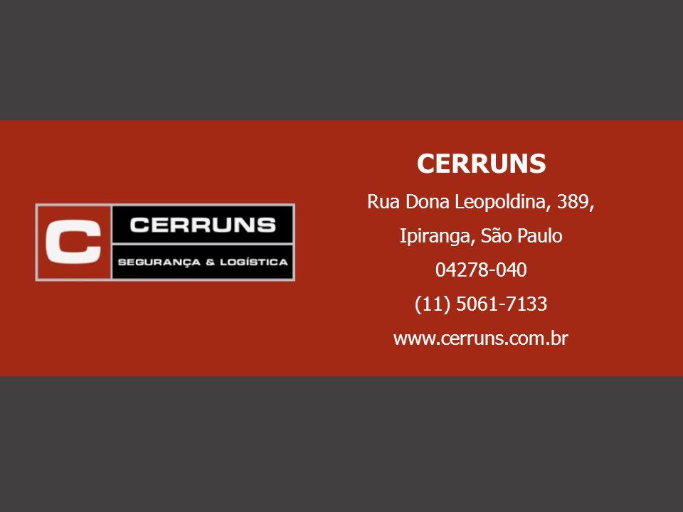 CERRUNS Rua Dona Leopoldina, 389, Ipiranga, São Paulo 04278-040 (11) 5061-7133 www.cerruns.com.br