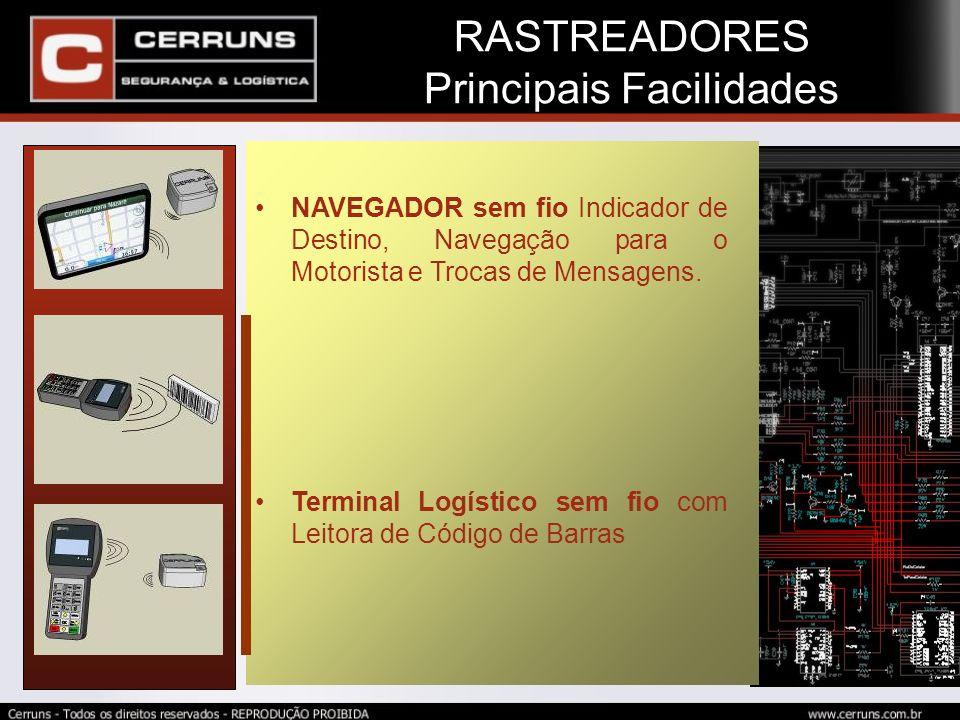 RASTREADORES Sensor de Parada Indevida Sensor de Parada Indevida Periodo de Parada e Comandos a executar configuráveis Via WEB.