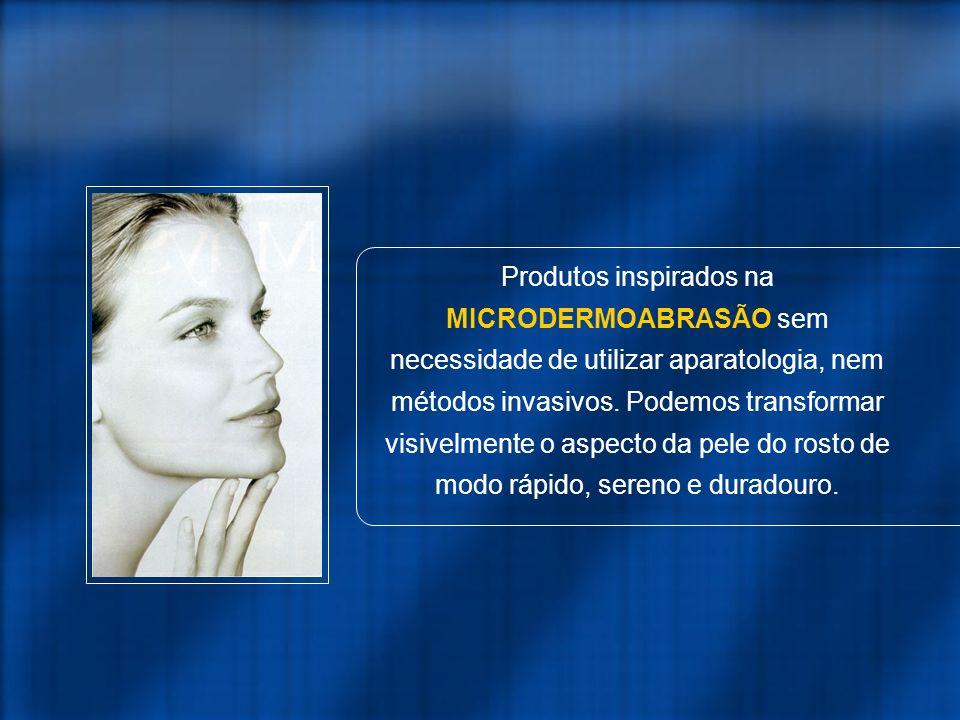 Produtos inspirados na MICRODERMOABRASÃO sem necessidade de utilizar aparatologia, nem métodos invasivos.