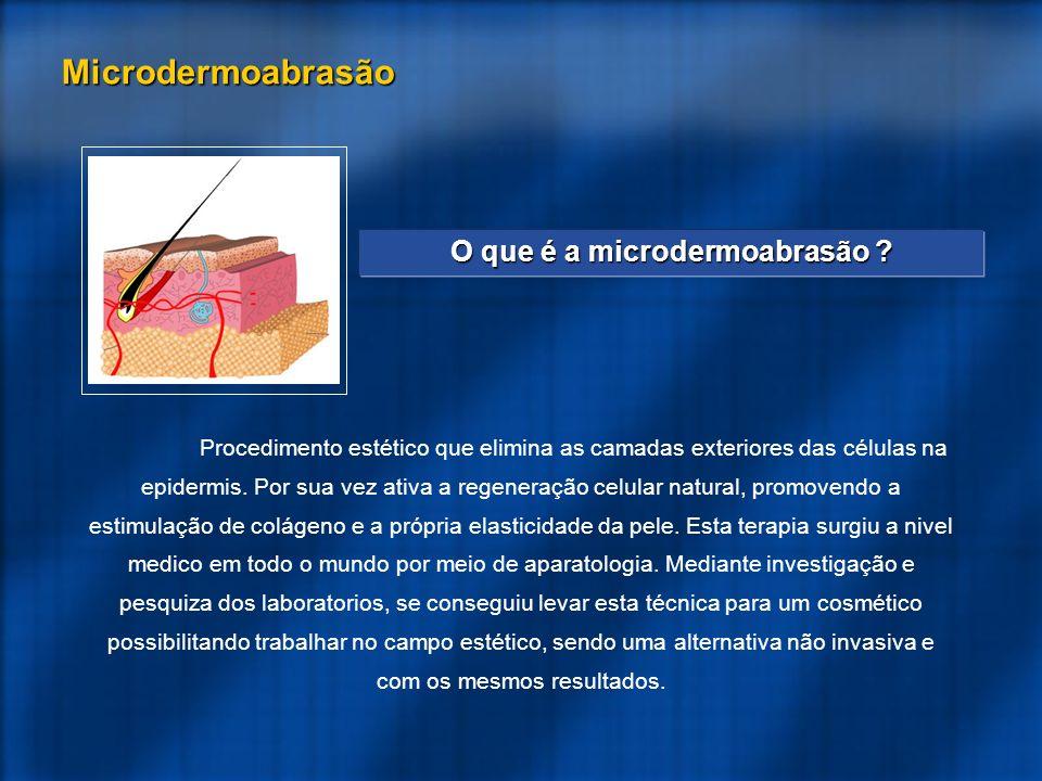 Procedimento estético que elimina as camadas exteriores das células na epidermis.