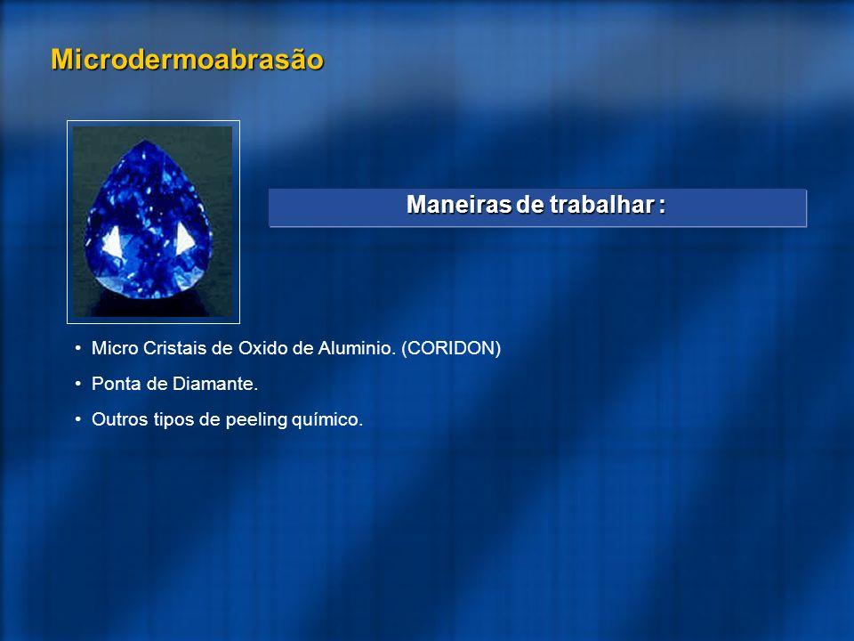 Micro Cristais de Oxido de Aluminio.(CORIDON) Ponta de Diamante.