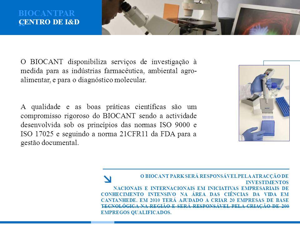O BIOCANT disponibiliza serviços de investigação à medida para as indústrias farmacêutica, ambiental agro- alimentar, e para o diagnóstico molecular.