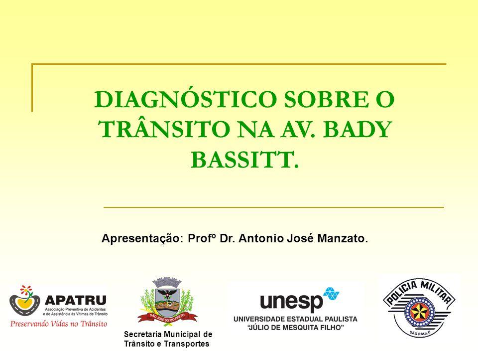 DIAGNÓSTICO SOBRE O TRÂNSITO NA AV. BADY BASSITT. Secretaria Municipal de Trânsito e Transportes Apresentação: Profº Dr. Antonio José Manzato.