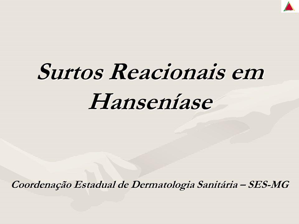 Surtos Reacionais em Hanseníase Coordenação Estadual de Dermatologia Sanitária – SES-MG