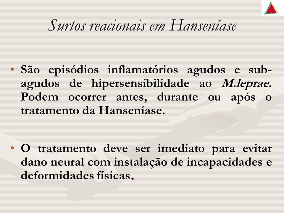 São episódios inflamatórios agudos e sub- agudos de hipersensibilidade ao M.leprae.