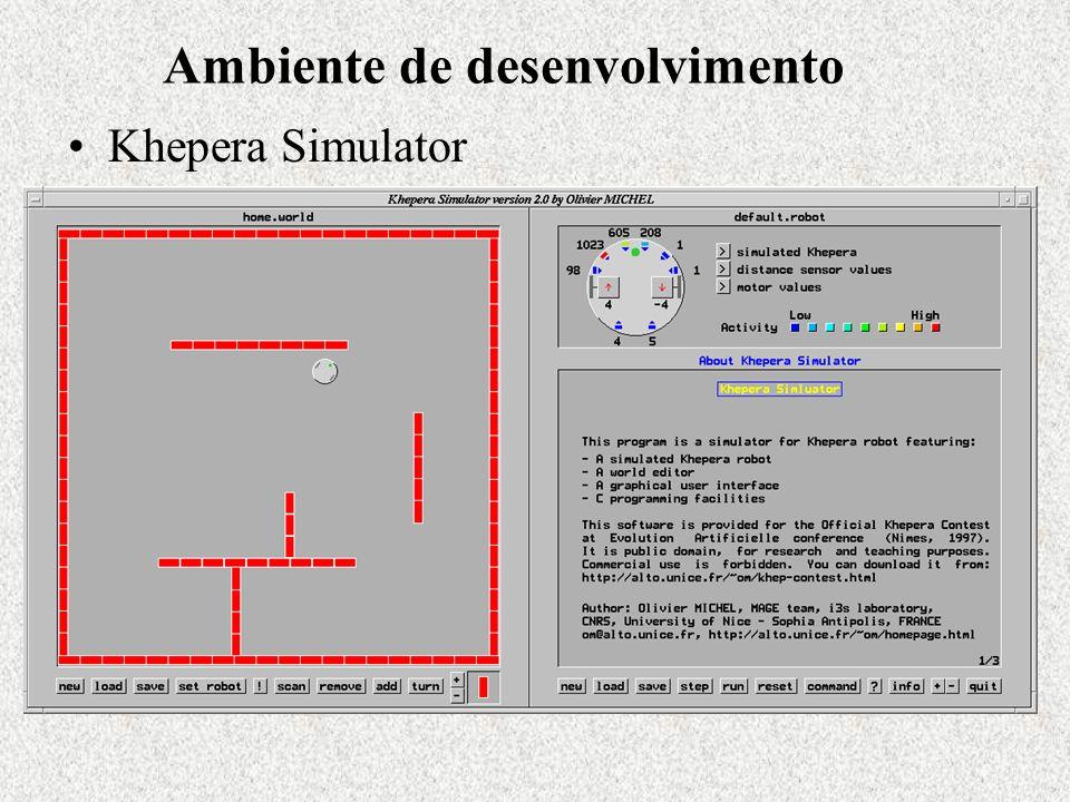 Ambiente de desenvolvimento Khepera Simulator