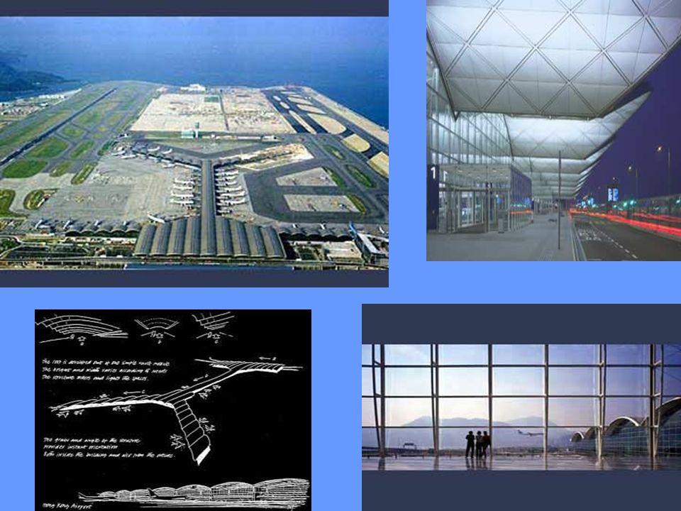 Aeroporto Chek Lap Kok Hong Kong, Toquio 1995, 1998 Maior terminal de carga independente do mundo. 6 km de comprimento e 3,5 km de largura. Área bruta