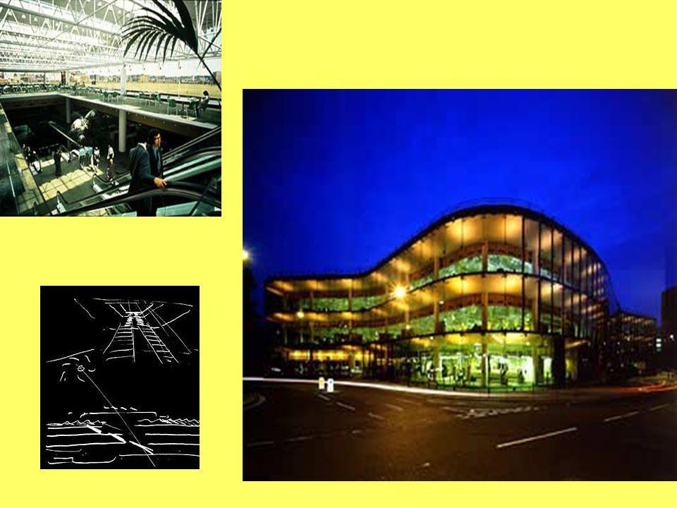 Escritório Willis Faber & Dumas Ipswich, Inglaterra 19973-1975 Edifício de escritórios com 7 000 m2 e área total de 21 000m2. A estrutura possui 3 and