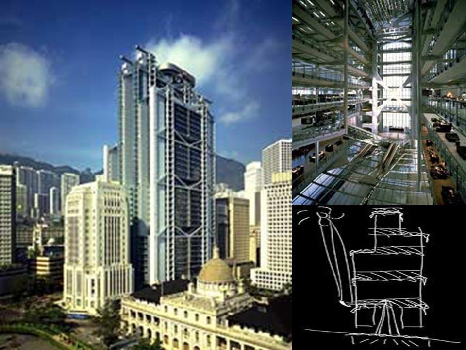 HSBC Hong Kong, Tóquio 1981-1986 É o edifício mais caro do mundo, em parte devido ao alto valor dos terrenos em Hong Kong. Terreno de quase 5 mil m2.