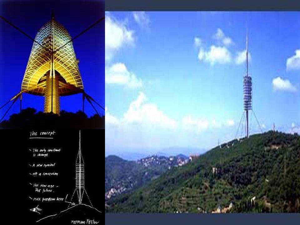 Torre de Collserola Barcelona, Espanha 1990-1992 Idéia de obter uma única estrutura elegante que todos apreciassem. Inaugurada em 27 de junho de 1992.