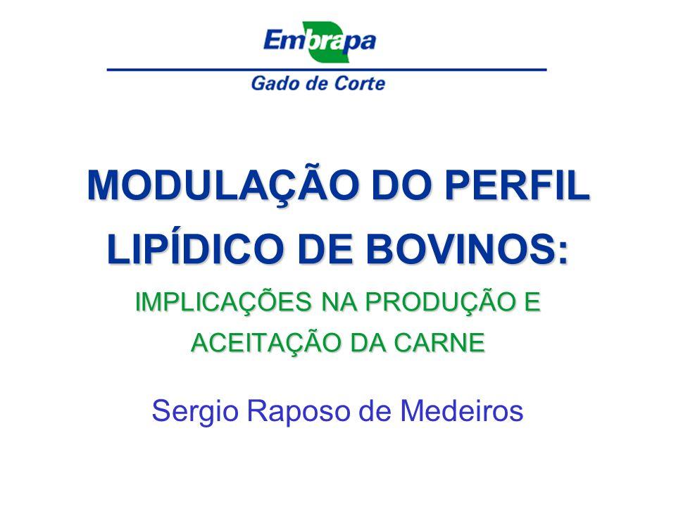 MODULAÇÃO DO PERFIL LIPÍDICO DE BOVINOS: IMPLICAÇÕES NA PRODUÇÃO E ACEITAÇÃO DA CARNE Sergio Raposo de Medeiros