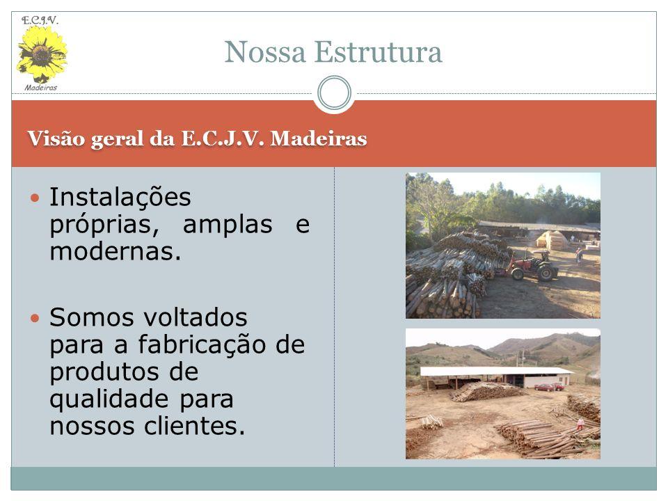 Visão geral da E.C.J.V.Madeiras (continuação) Pátio Interno (Área Coberta).