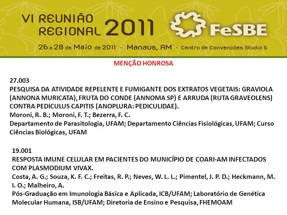 01.009 EFEITO DOS DERIVADOS MONOAROMÁTICOS DO PETRÓLEO NO PEIXE AMAZÔNICO, COLOSSOMA MACROPOMUM (CUVIER, 1818): AVALIAÇÃO POR MEIO DO USO DE BIOMARCADORES.