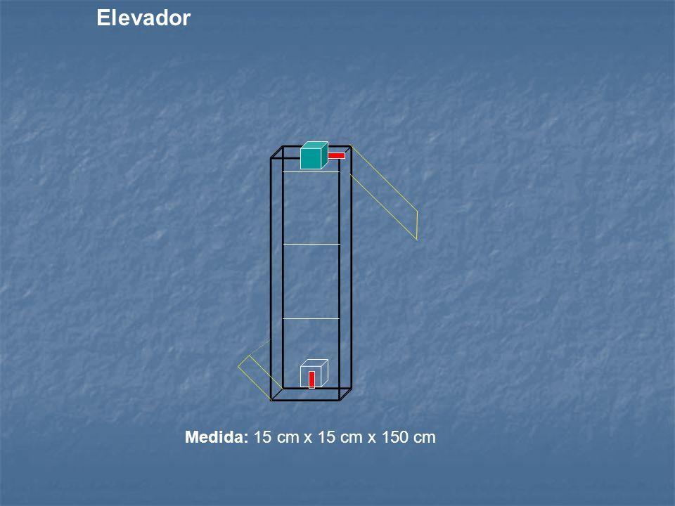 Medida: 15 cm x 15 cm x 150 cm Elevador