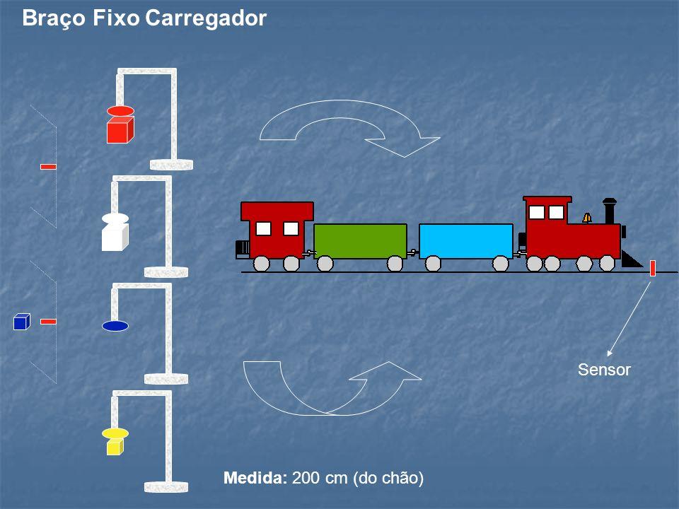 Medida: 200 cm (do chão) Sensor Braço Fixo Carregador
