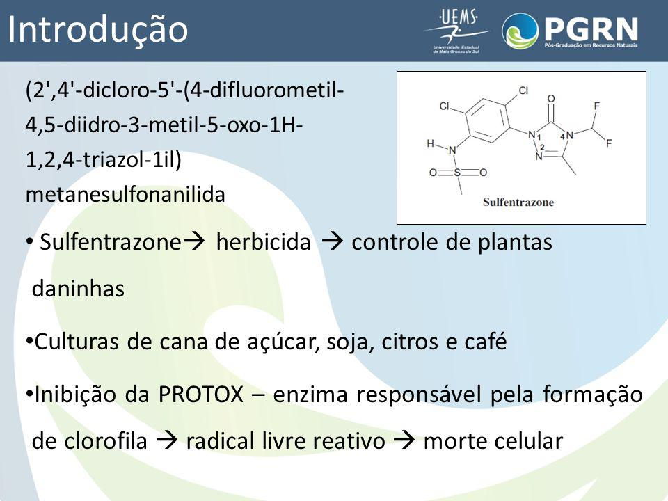 Introdução (2',4'-dicloro-5'-(4-difluorometil- 4,5-diidro-3-metil-5-oxo-1H- 1,2,4-triazol-1il) metanesulfonanilida Sulfentrazone herbicida controle de