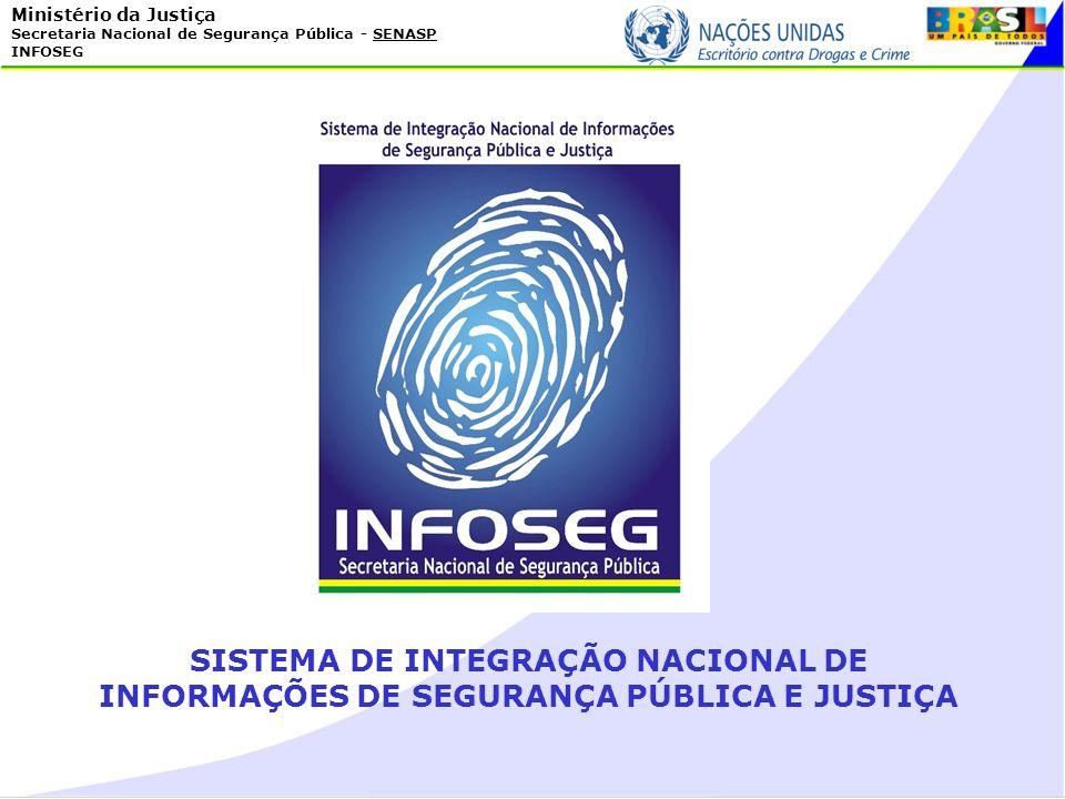 Ministério da Justiça Secretaria Nacional de Segurança Pública - SENASP INFOSEG SISTEMA DE INTEGRAÇÃO NACIONAL DE INFORMAÇÕES DE SEGURANÇA PÚBLICA E J