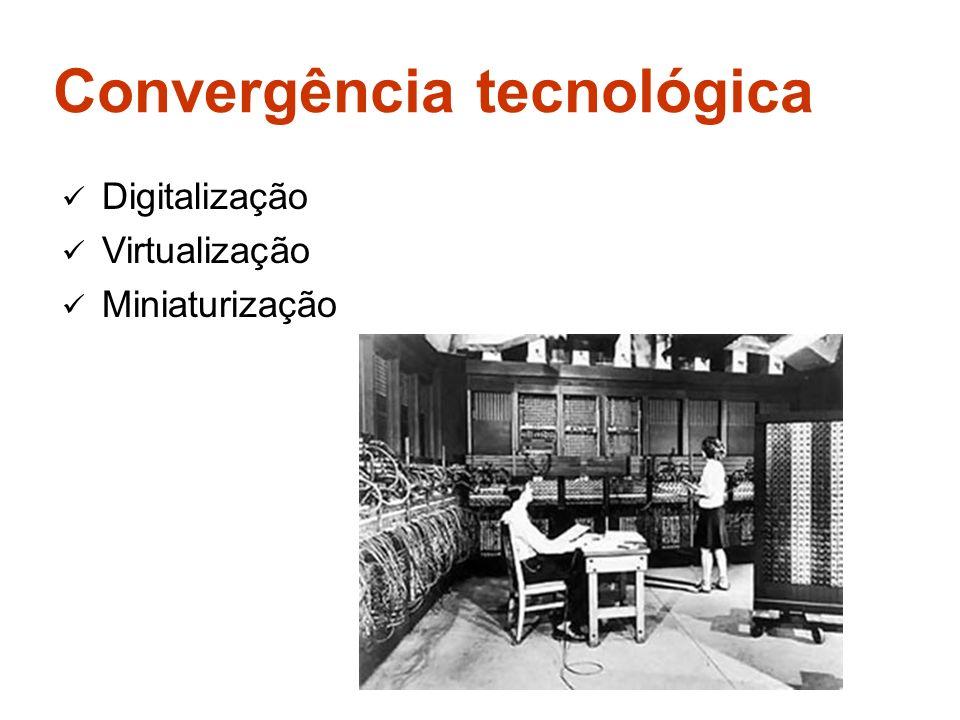 Convergência tecnológica Digitalização Virtualização Miniaturização