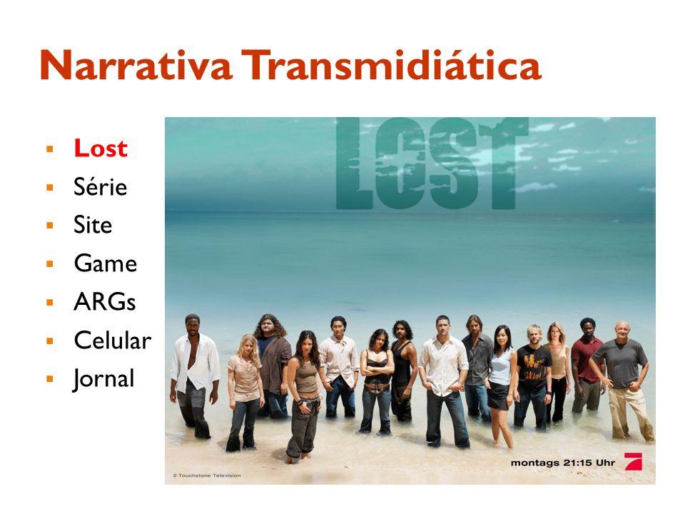 Narrativa Transmidiática Lost Série Site Game ARGs Celular Jornal