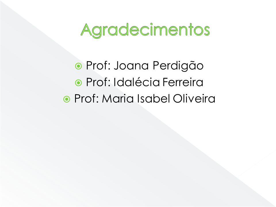 Prof: Joana Perdigão Prof: Idalécia Ferreira Prof: Maria Isabel Oliveira