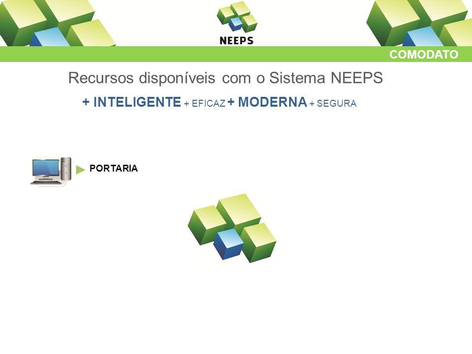 COMODATO Recursos disponíveis com o Sistema NEEPS + INTELIGENTE + EFICAZ + MODERNA + SEGURA PORTARIA
