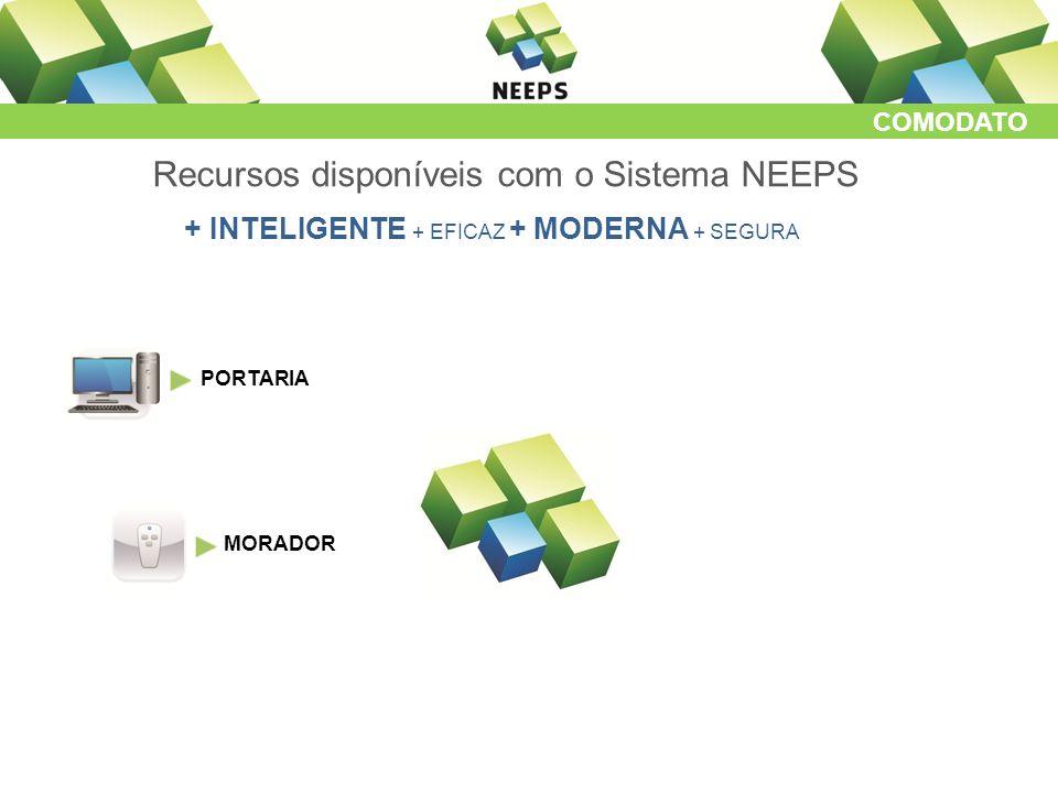 COMODATO Recursos disponíveis com o Sistema NEEPS + INTELIGENTE + EFICAZ + MODERNA + SEGURA PORTARIA MORADOR