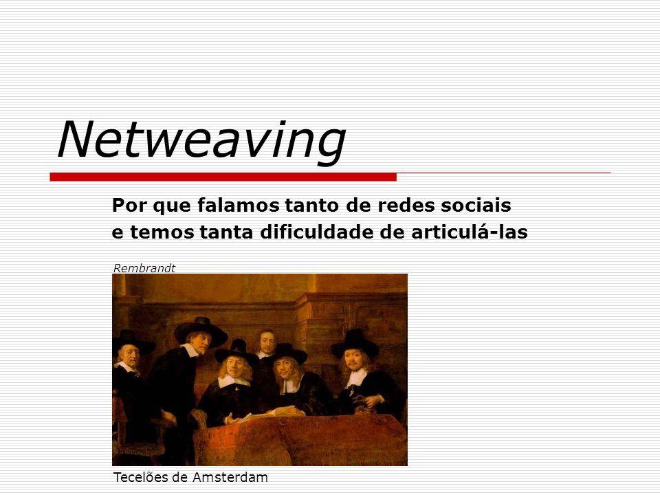 Netweaving Por que falamos tanto de redes sociais e temos tanta dificuldade de articulá-las Tecelões de Amsterdam Rembrandt
