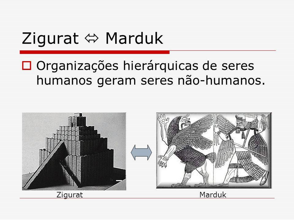 Zigurat Marduk Organizações hierárquicas de seres humanos geram seres não-humanos. ZiguratMarduk