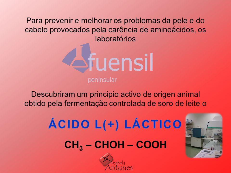 CH 3 – CHOH – COOH A A Antunes Anabela fuensil peninsular