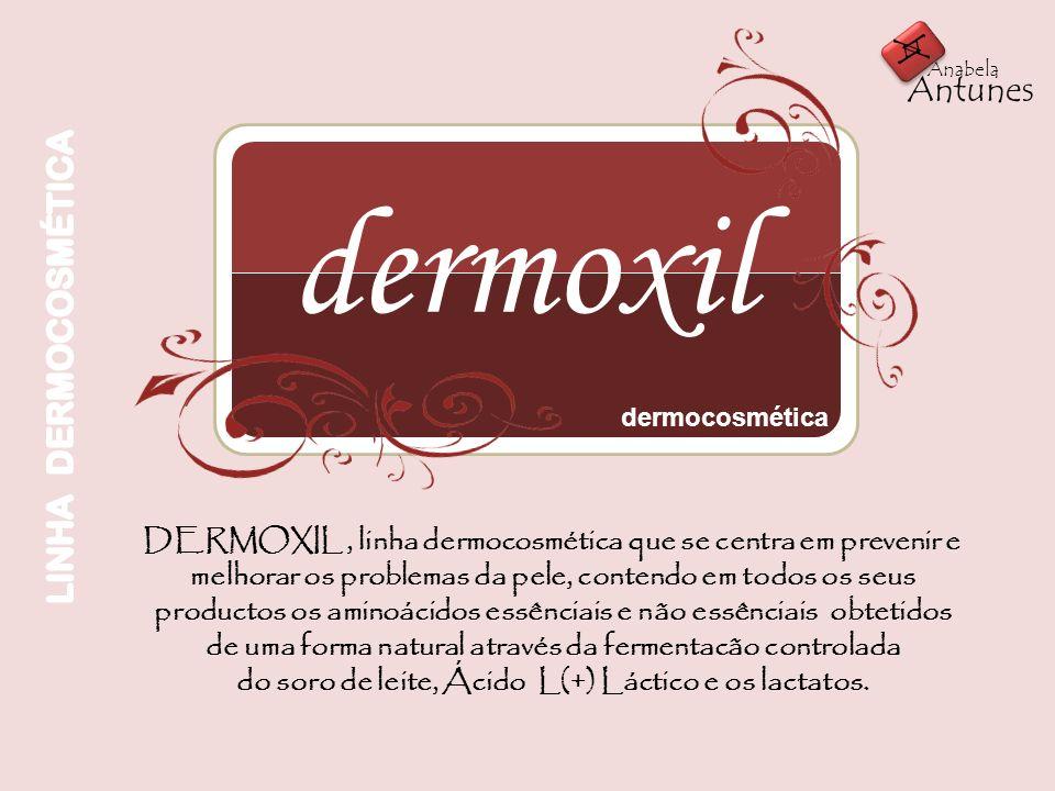 dermoxil dermocosmética DERMOXIL, linha dermocosmética que se centra em prevenir e melhorar os problemas da pele, contendo em todos os seus productos