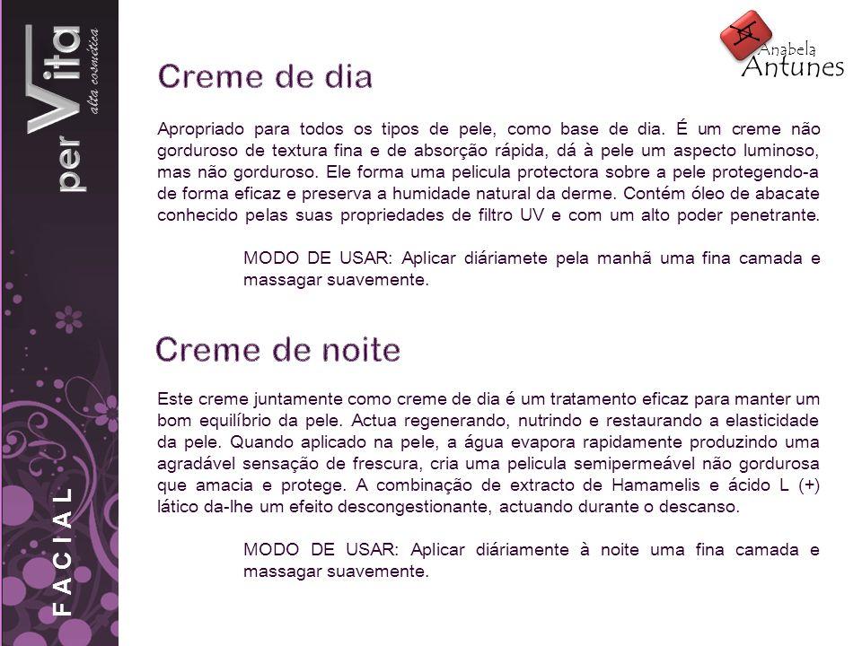 alta cosmética Este creme juntamente como creme de dia é um tratamento eficaz para manter um bom equilíbrio da pele. Actua regenerando, nutrindo e res