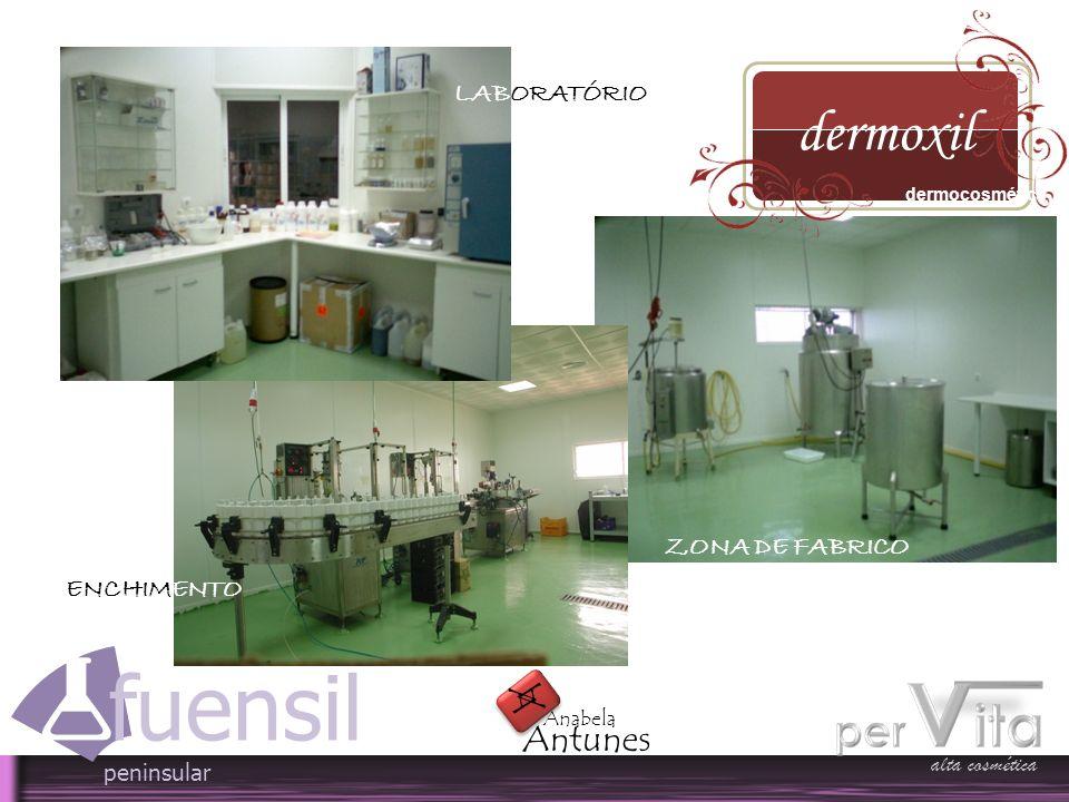 alta cosmética fuensil peninsular A A Antunes Anabela LABORATÓRIO ZONA DE FABRICO ENCHIMENTO dermoxil dermocosmética