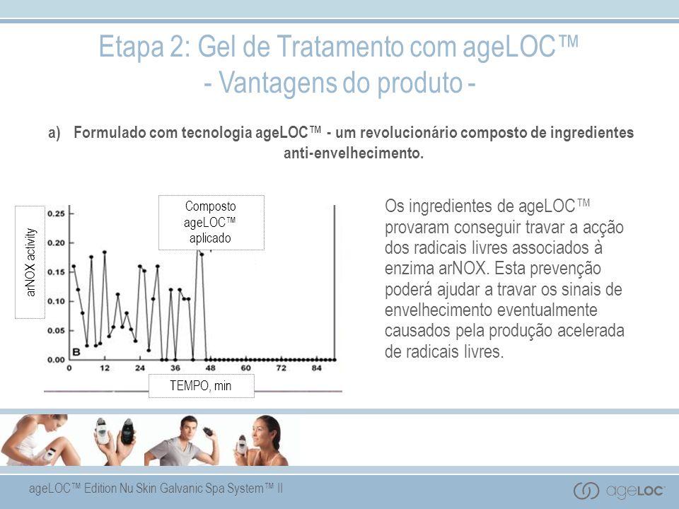 ageLOC Edition Nu Skin Galvanic Spa System II a) Formulado com tecnologia ageLOC - um revolucionário composto de ingredientes anti-envelhecimento. Eta
