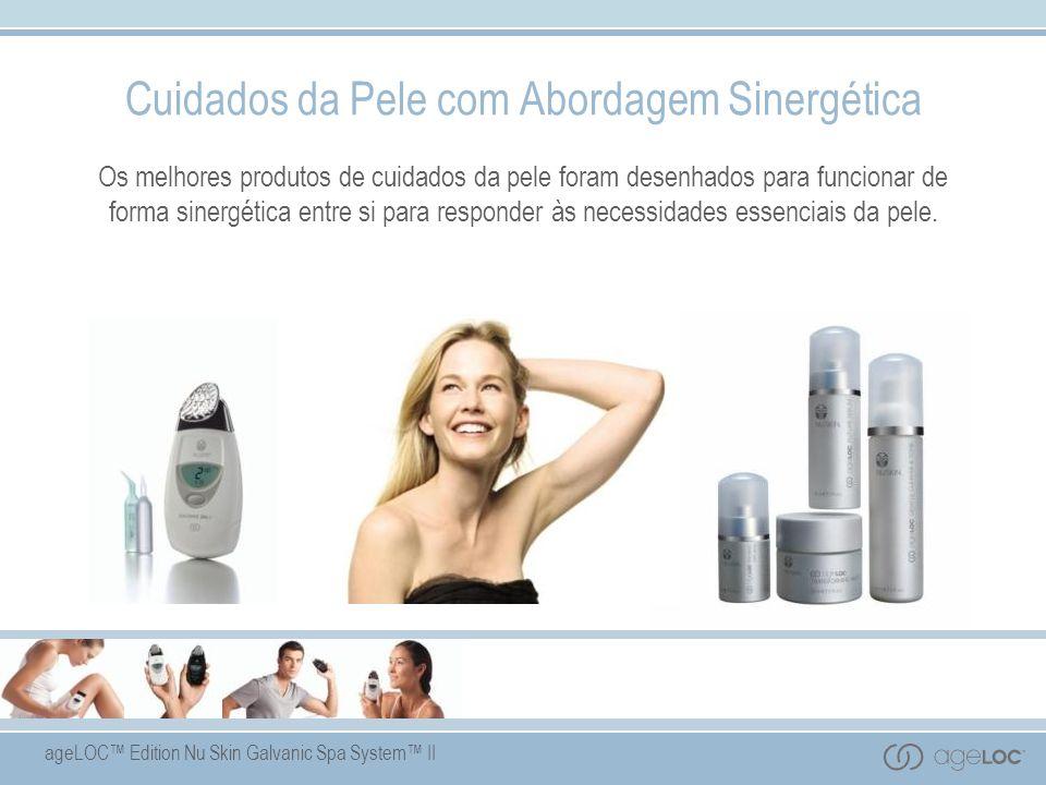 ageLOC Edition Nu Skin Galvanic Spa System II Cuidados da Pele com Abordagem Sinergética Os melhores produtos de cuidados da pele foram desenhados para funcionar de forma sinergética entre si para responder às necessidades essenciais da pele.