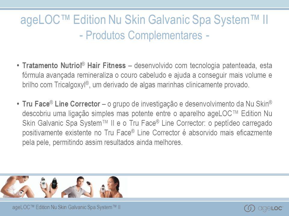 ageLOC Edition Nu Skin Galvanic Spa System II - Produtos Complementares - Tratamento Nutriol ® Hair Fitness – desenvolvido com tecnologia patenteada,