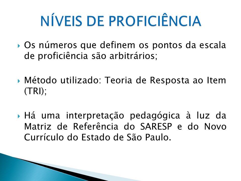 ABAIXO DO BÁSICO – os alunos neste nível demonstram domínio insuficiente dos conteúdos, competências e habilidades desejáveis para a série escolar em que se encontram.