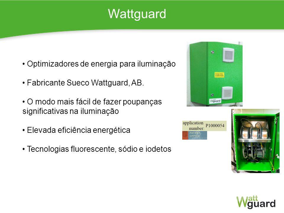 Wattguard Optimizadores de energia para iluminação Fabricante Sueco Wattguard, AB. O modo mais fácil de fazer poupanças significativas na iluminação E