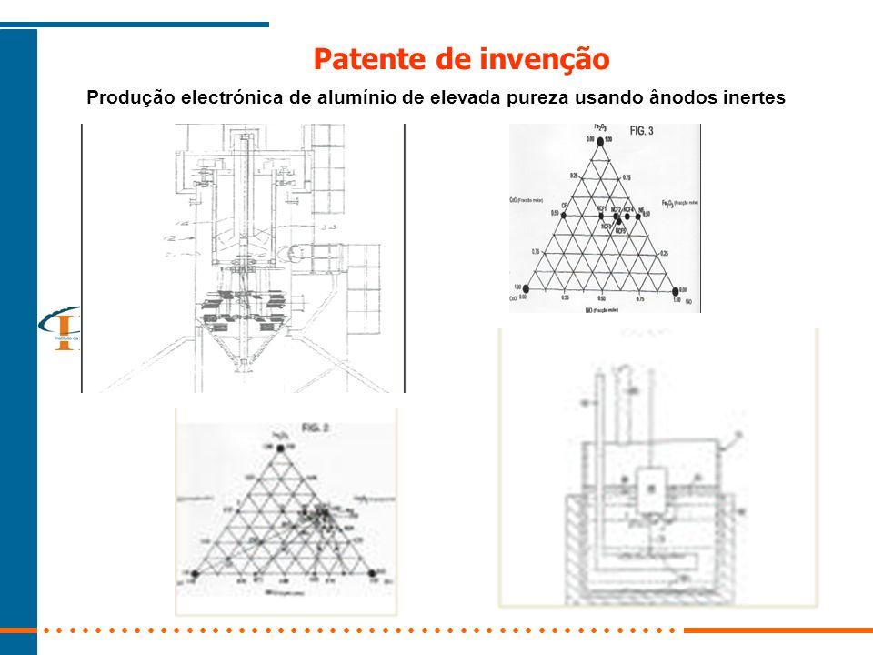 Patente de invenção Produção electrónica de alumínio de elevada pureza usando ânodos inertes