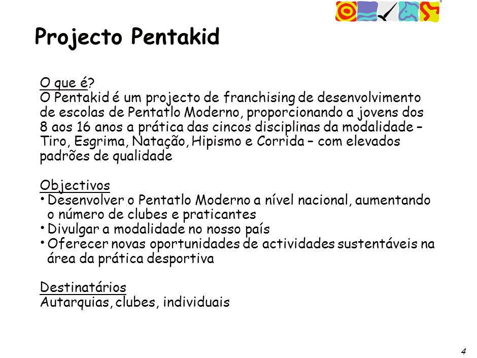 4 Projecto Pentakid O que é.