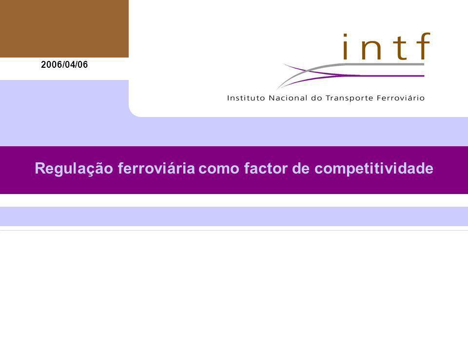 22 A regulação ferroviária como factor de competitividade Acesso à infra-estrutura Portugal: DECRETO-LEI 270/2003 e Regulamento 21/2005 -Tarifas de utilização da infra-estrutura calculadas e apresentadas pela Refer, E.P.
