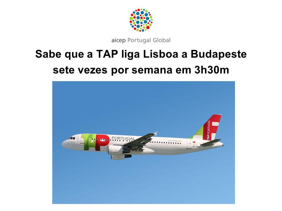 Sabe que a TAP liga Lisboa a Budapeste sete vezes por semana em 3h30m