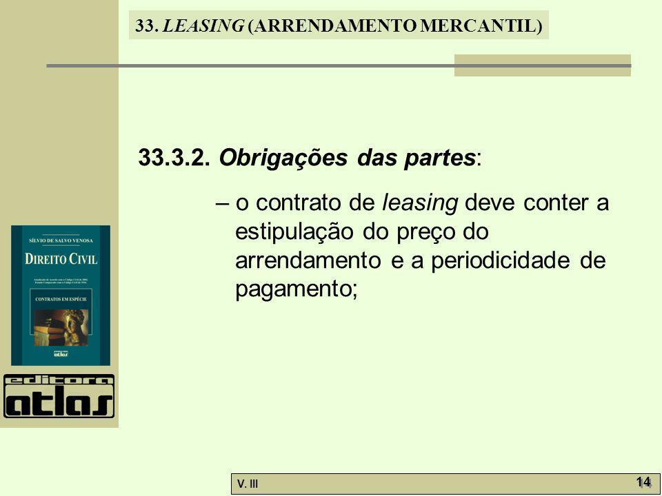33.LEASING (ARRENDAMENTO MERCANTIL) V. III 14 33.3.2.