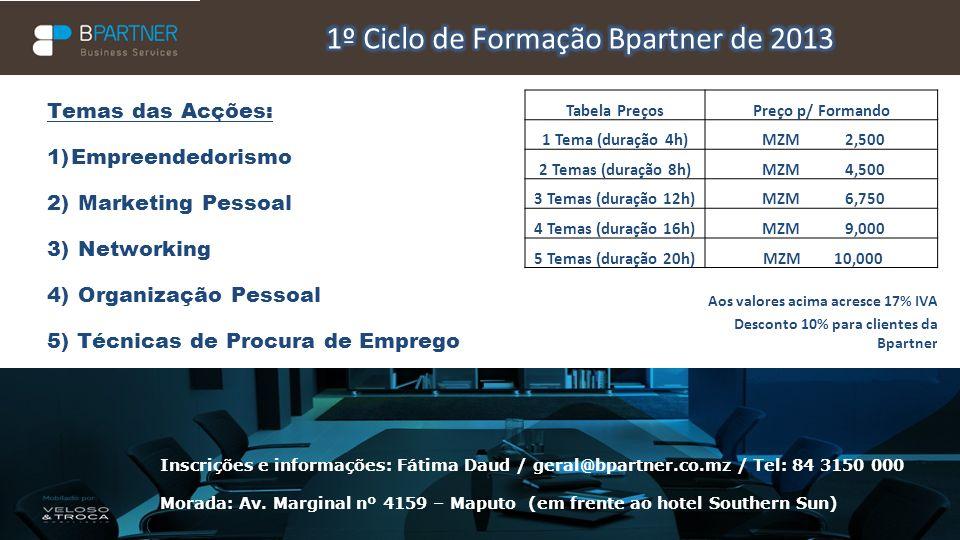 A BPartner - Business Services é uma empresa dedicada ao serviço de Easy setup de empresas que se queiram instalar em Moçambique, através do aluguer de espaços de trabalho com todos os serviços incluídos e consultoria de apoio à internacionalização das empresas.