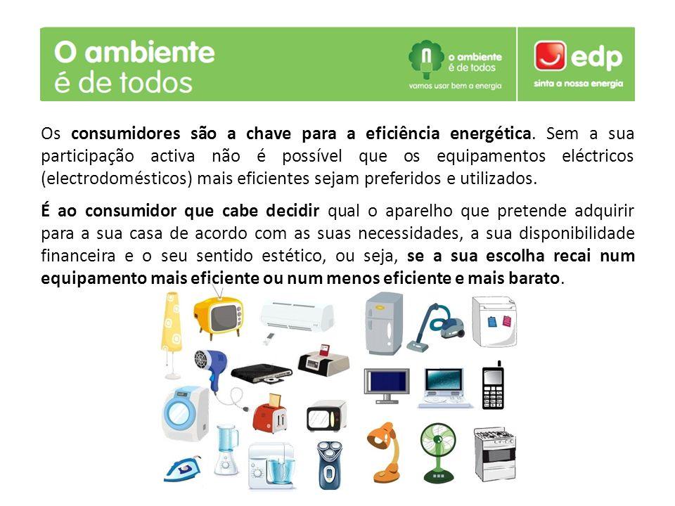 Os consumidores são a chave para a eficiência energética. Sem a sua participação activa não é possível que os equipamentos eléctricos (electrodoméstic