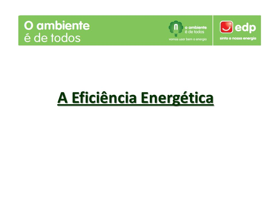 O que é a Eficiência energética?