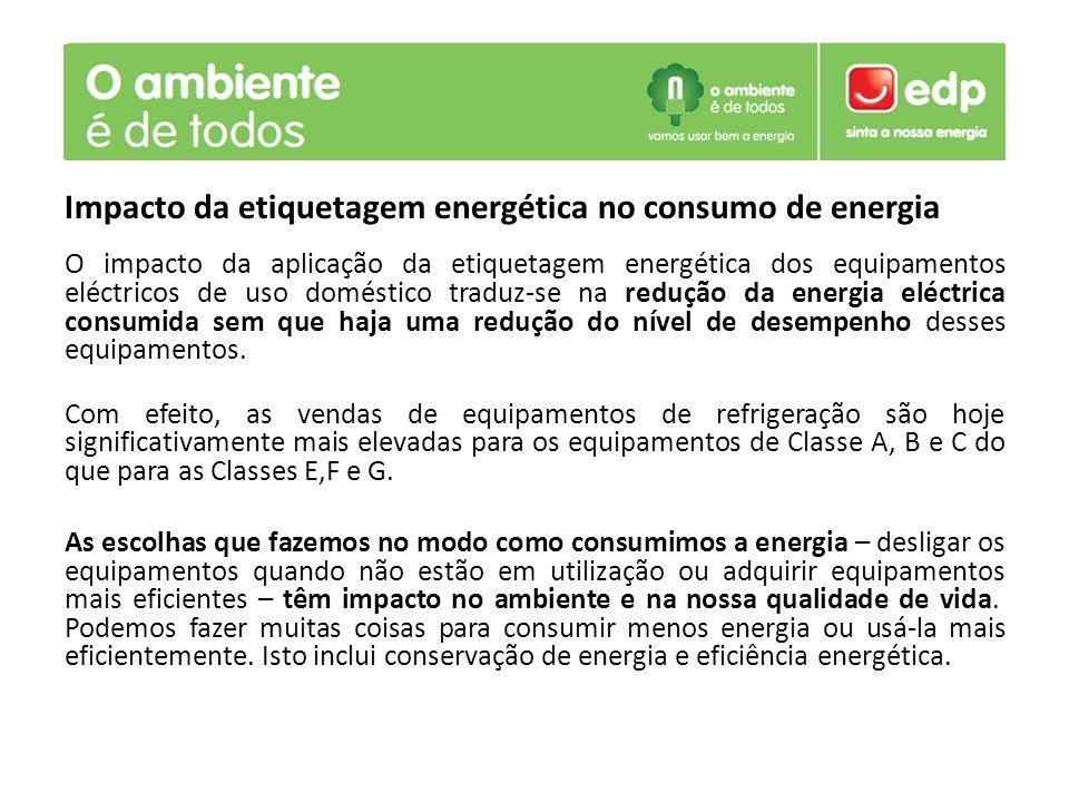 Impacto da etiquetagem energética no consumo de energia O impacto da aplicação da etiquetagem energética dos equipamentos eléctricos de uso doméstico