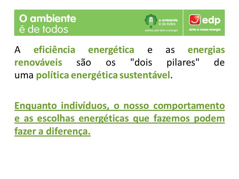 A eficiência energética e as energias renováveis são os