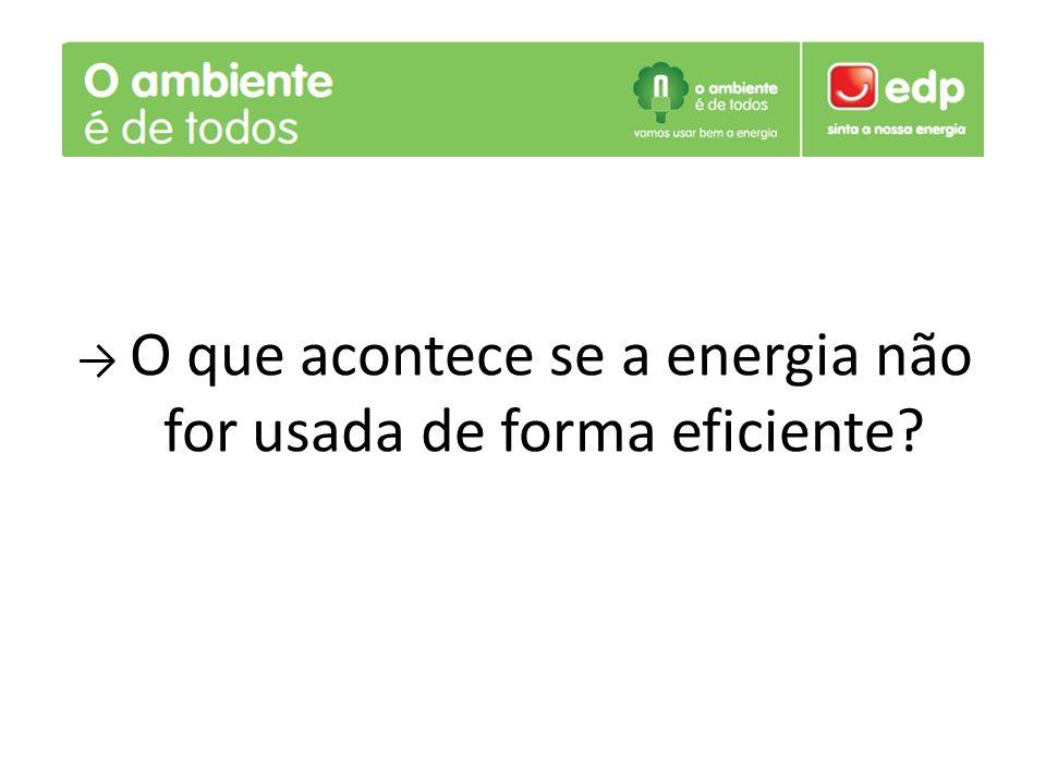 O que acontece se a energia não for usada de forma eficiente?