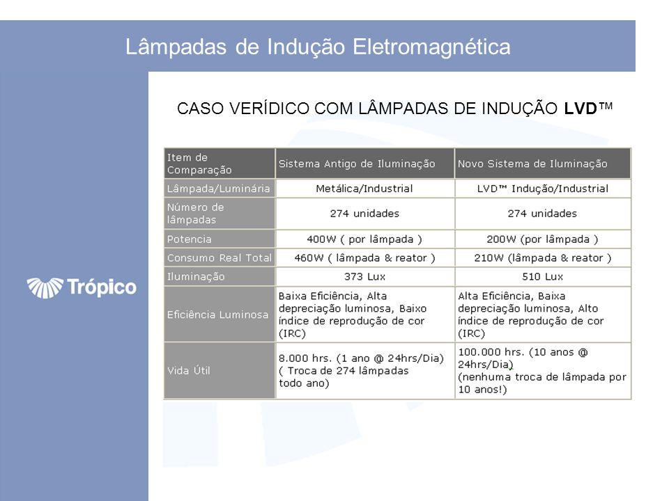 CASO VERÍDICO COM LÂMPADAS DE INDUÇÃO LVD