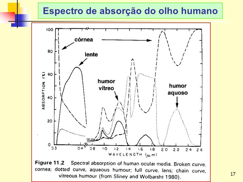 17 LAvFis-2009 Espectro de absorção do olho humano